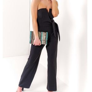 Blue Kathleen Strapless jumpsuit
